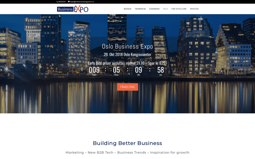 Oslo business Expo 2018 – Vi har 50 billetter